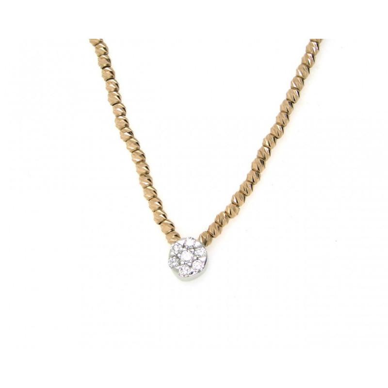 Collar de oro y brillnates 03-153397A