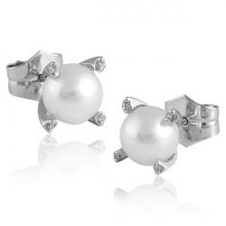 Pendientes Perlas y Diamantes TR6771HBRTES