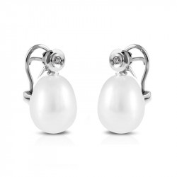 Pendientes Perla y Diamantes TR06731HSI
