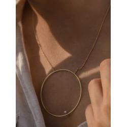 Colgante De Aro Con Mini Perla 17876-PE
