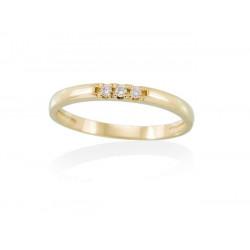 Sortija Oro Amarillo Y Diamantes A2486SA