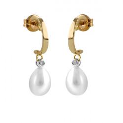 Pendientes perlas y diamantes 539650